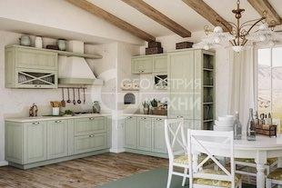 Кухня Эри из массива дерева в стиле кантри