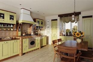 Кухня Руна из массива дуба в классическом стиле