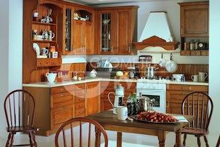 Кухня Глэдис в исполнении натурального дуба