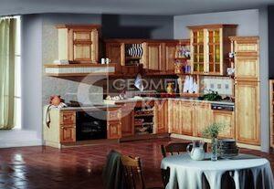 Кухня кантри из экологичного массива  дерева