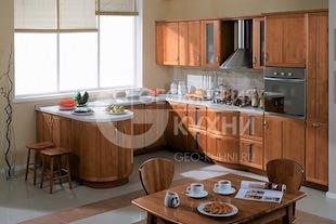 Натуральная кухня Лея в стиле эклектика