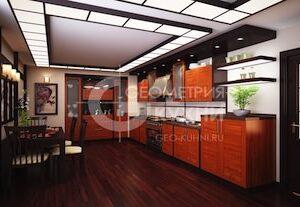 Кухонный гарнитур Ника с фасадами из массива