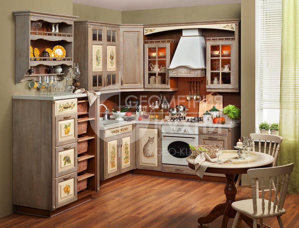 Стиль прованс в интерьере маленькой кухни