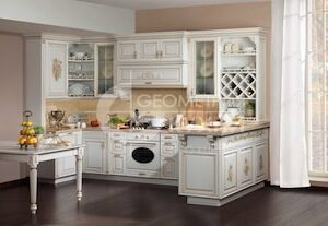 Роскошная кухня Версаль из массива дерева