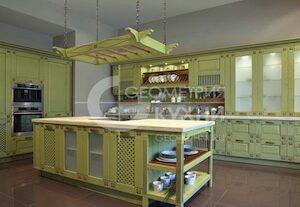 Кухня Флореале из массива в неоклассике