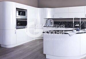 Кухня Кристалл с радиусными фасадами
