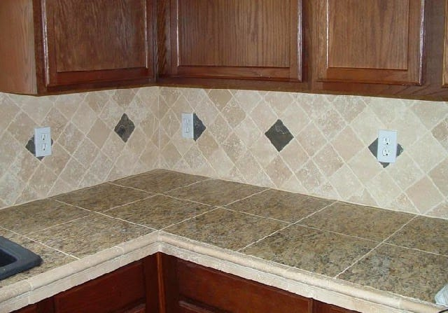 Kitchen worktop ceramic tiles-1