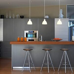 Brilliant Modern Kitchen With Plenty Of Metallic Hues