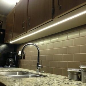 LED Lamps Under The Cupboards In The Kitchen 1