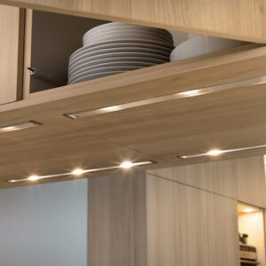 LED Lamps Under The Cupboards In The Kitchen 3