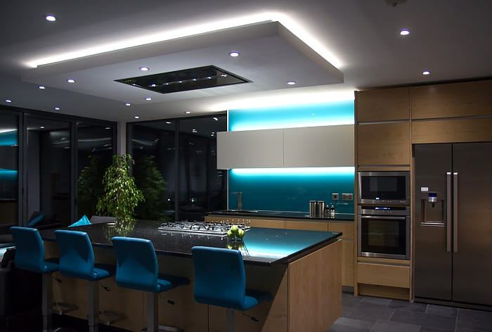 LED lighting in the kitchen