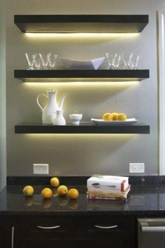 lighting under shelves in the kitchen-1