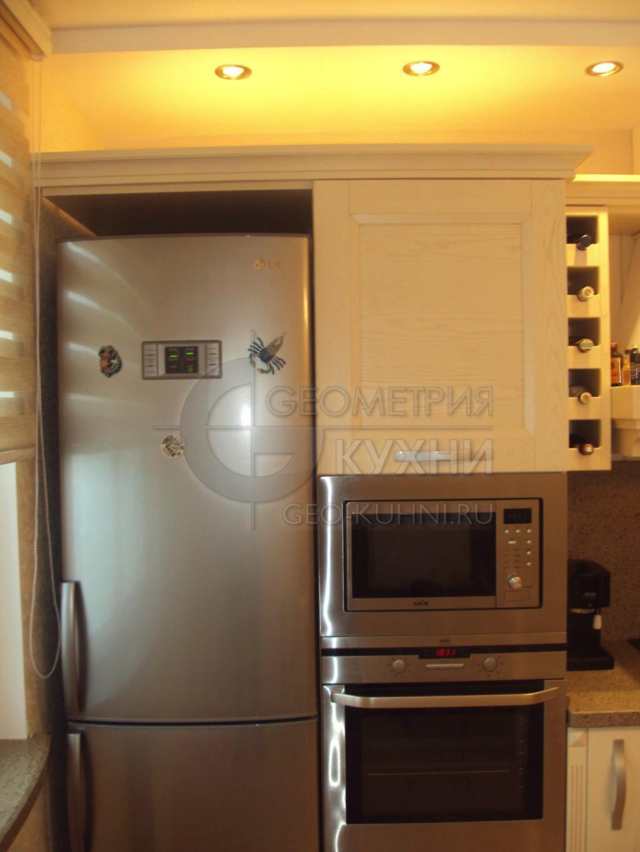 Дизайн прямой кухни 3м
